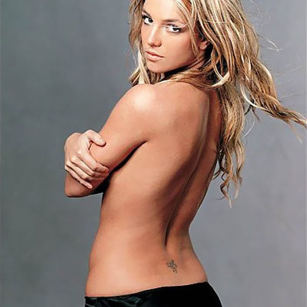 low back fairy tattoo, Britney Spears