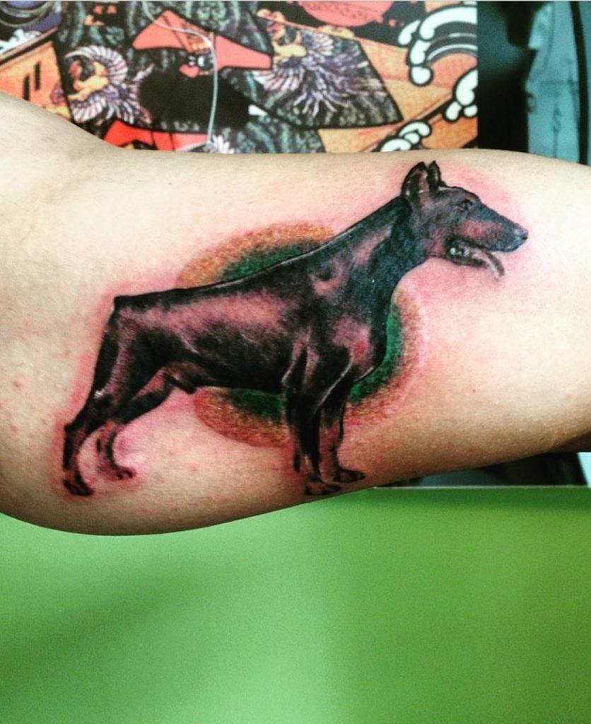 Doberman dog tattoo