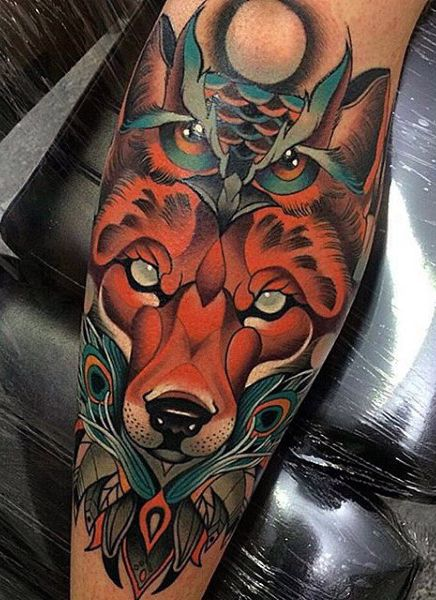 amazing fox tattoo