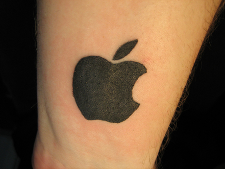 apple logo tattoo