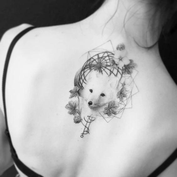 Arctic Fox Tattoo