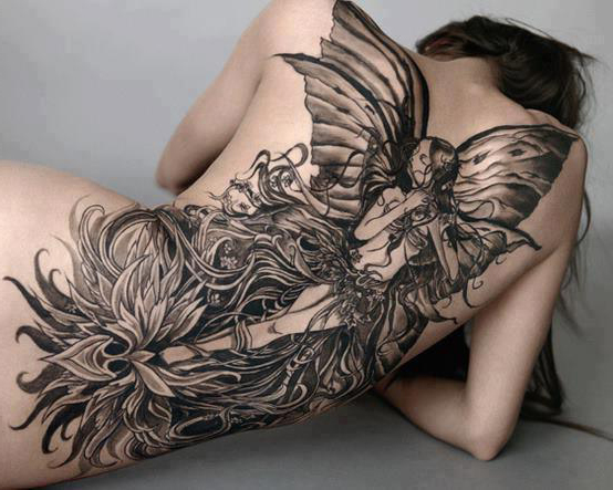 fairy tattoo full back