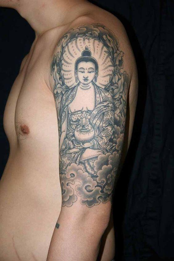 lotus flower tattoo black and white