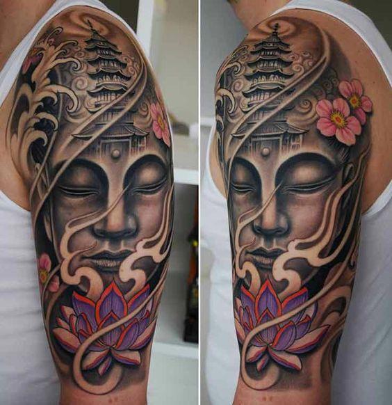lotus flower tattoo sleeves