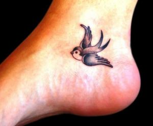 low ankle swallow tattoo