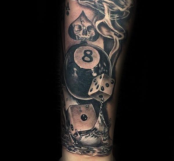 magic 8 ball tattoo