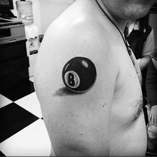 realistic 8 ball tattoo