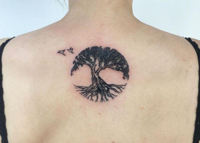 small back tree of life tattoo