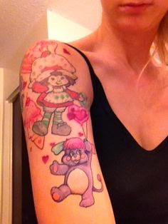 strawberry shortcake tattoo sleeve