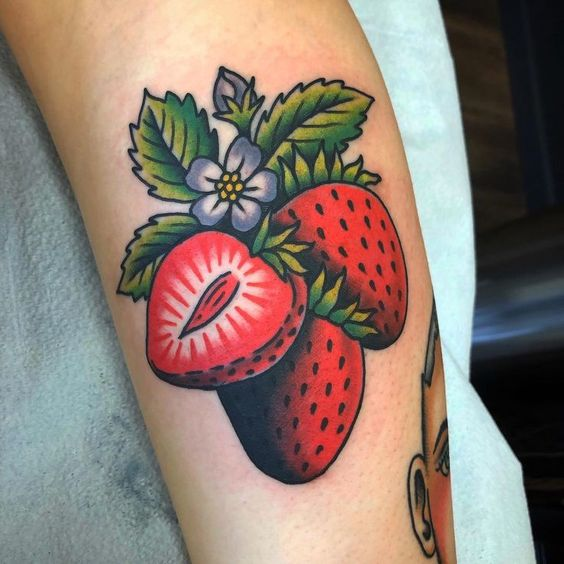 strawberry tattoo ideas