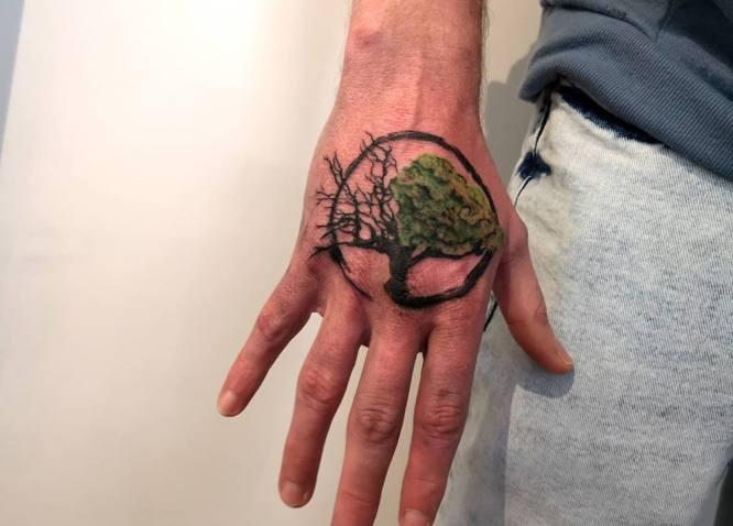 tree of life tattoo hand