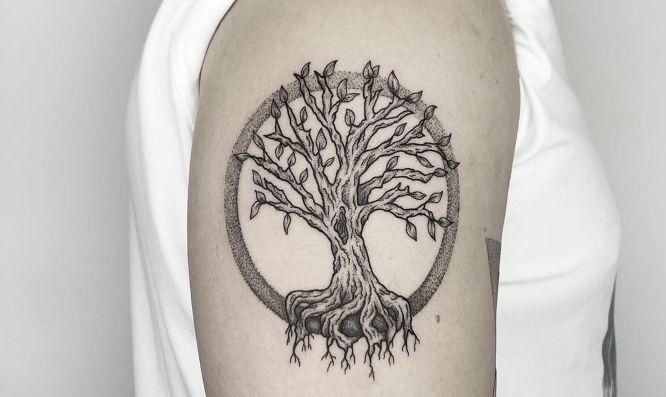 tree of life tattoo sleeve