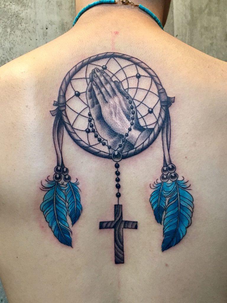 Christian dreamcatcher tattoo
