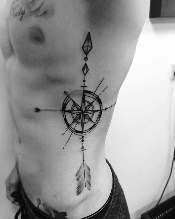 arrow compass tattoo