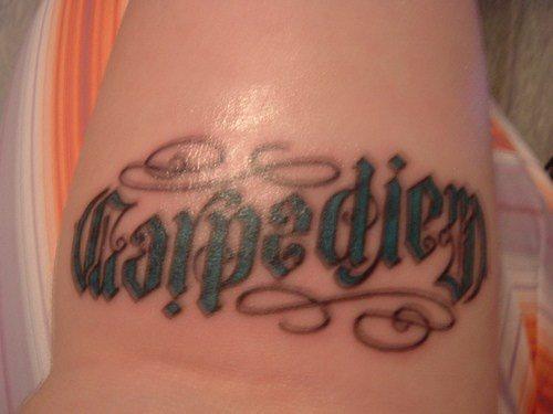 carpediem ambigram tattoo