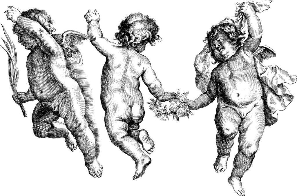 cherub tattoos flash