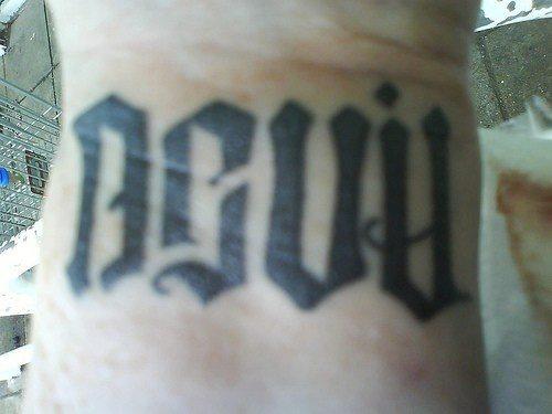 devil angel ambigram