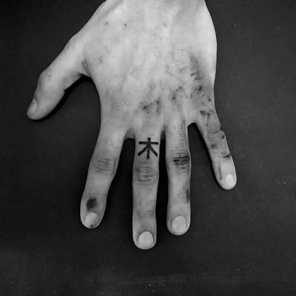 gothic kanji tattoo