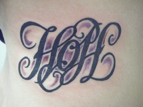 hope ambigram tattoo