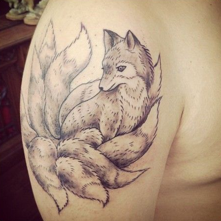 kitsune sleeve tattoo