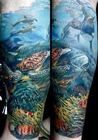 ocean tattoo diving