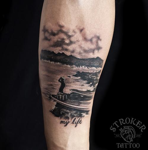 ocean tattoo idea