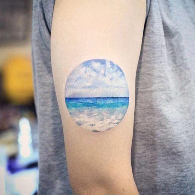 small ocean tattoo