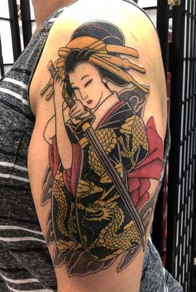 sword samurai tattoo