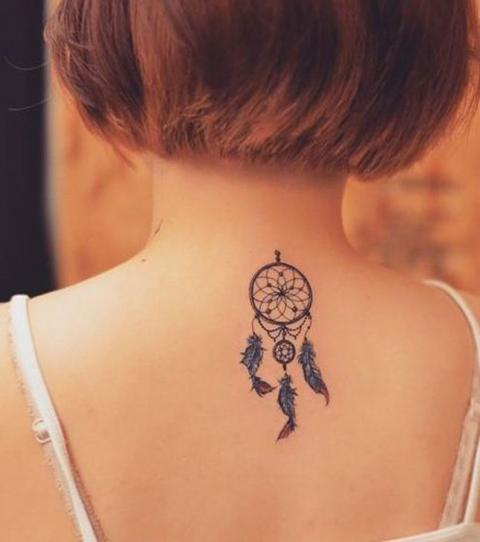simple dreamcatcher tattoo small