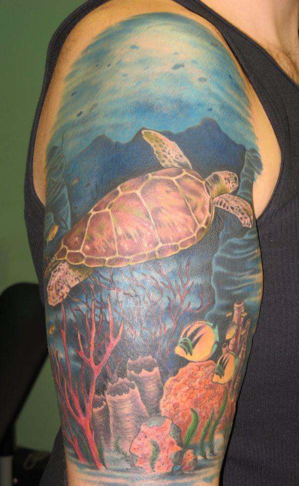 sleeve ocean tattoo