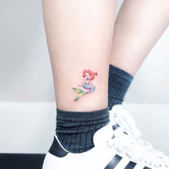 small little mermaid tattoo