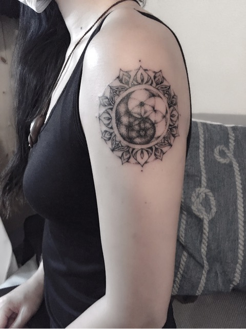 yin yang mandala tattoo