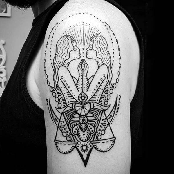 Angels Gemini tattoo