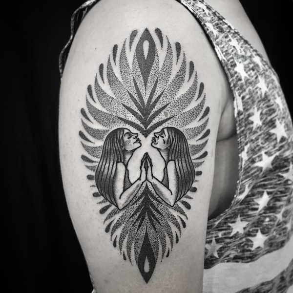 Gemini symbol tattoo