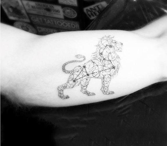 Leo constellation tattoo ideas