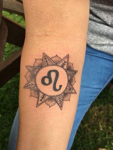 Leo sign tattoo