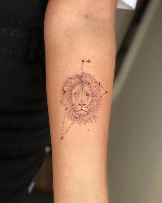 Leo zodiac tattoo