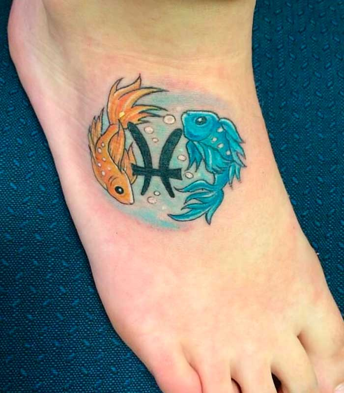 Pisces signs tattoo