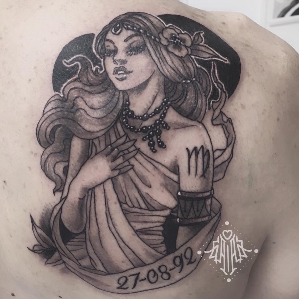 Virgin Virgo tattoo