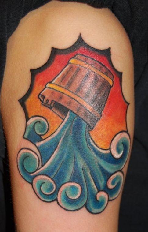 Aquarius symbol tattoo