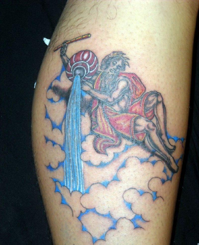 Aquarius symbols tattoo