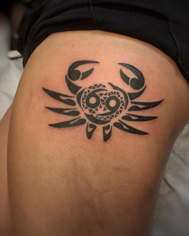 cancer symbol tattoo