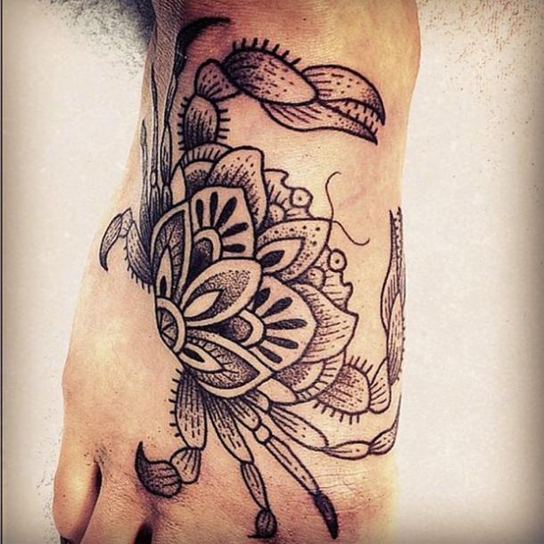 lotus cancer crab tattoo