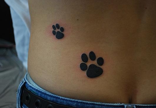 back paw print tattoo