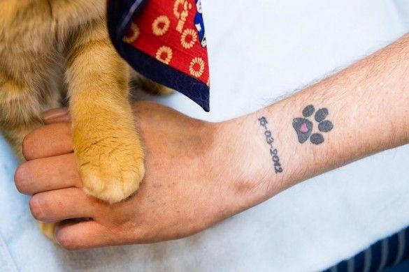cat paw print tattoo