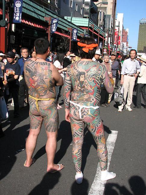 Traditional full body Japanese tattoos